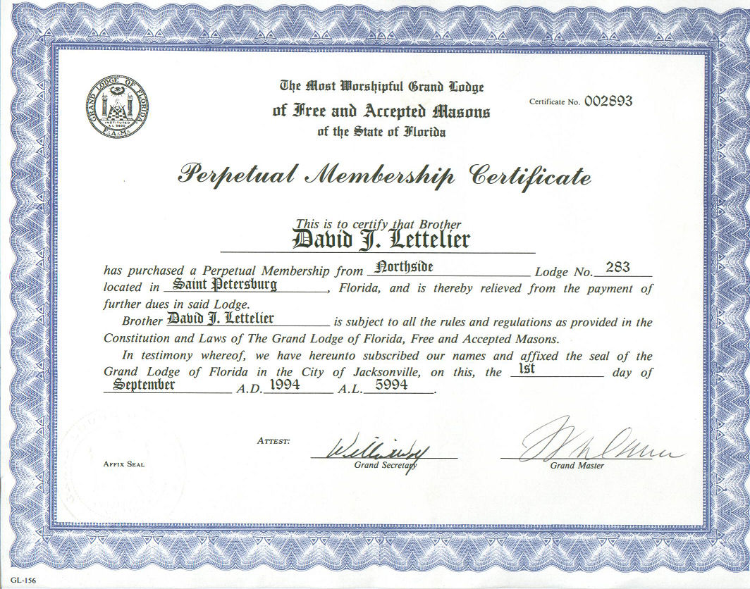 certificate of appreciation masonic images