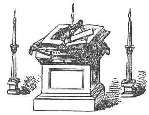 COMPASSES PLACED IN A LODGE OF FELLOW CRAFT MASONS, ''ONE POINT ELEVATED ABOVE THE SQUARE.'' (See Note B.)