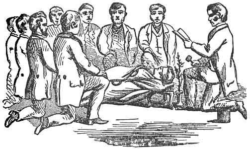 BRETHREN KNEELING AT PRAYER AROUND THE GRAVE OF HIRAM ABIFF, THE WIDOW'S SON.