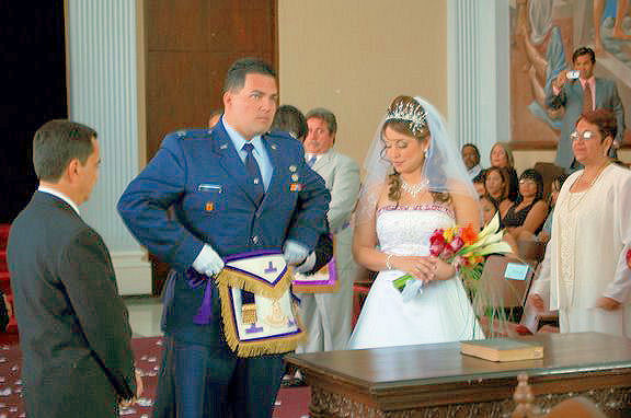 Masonic Wedding