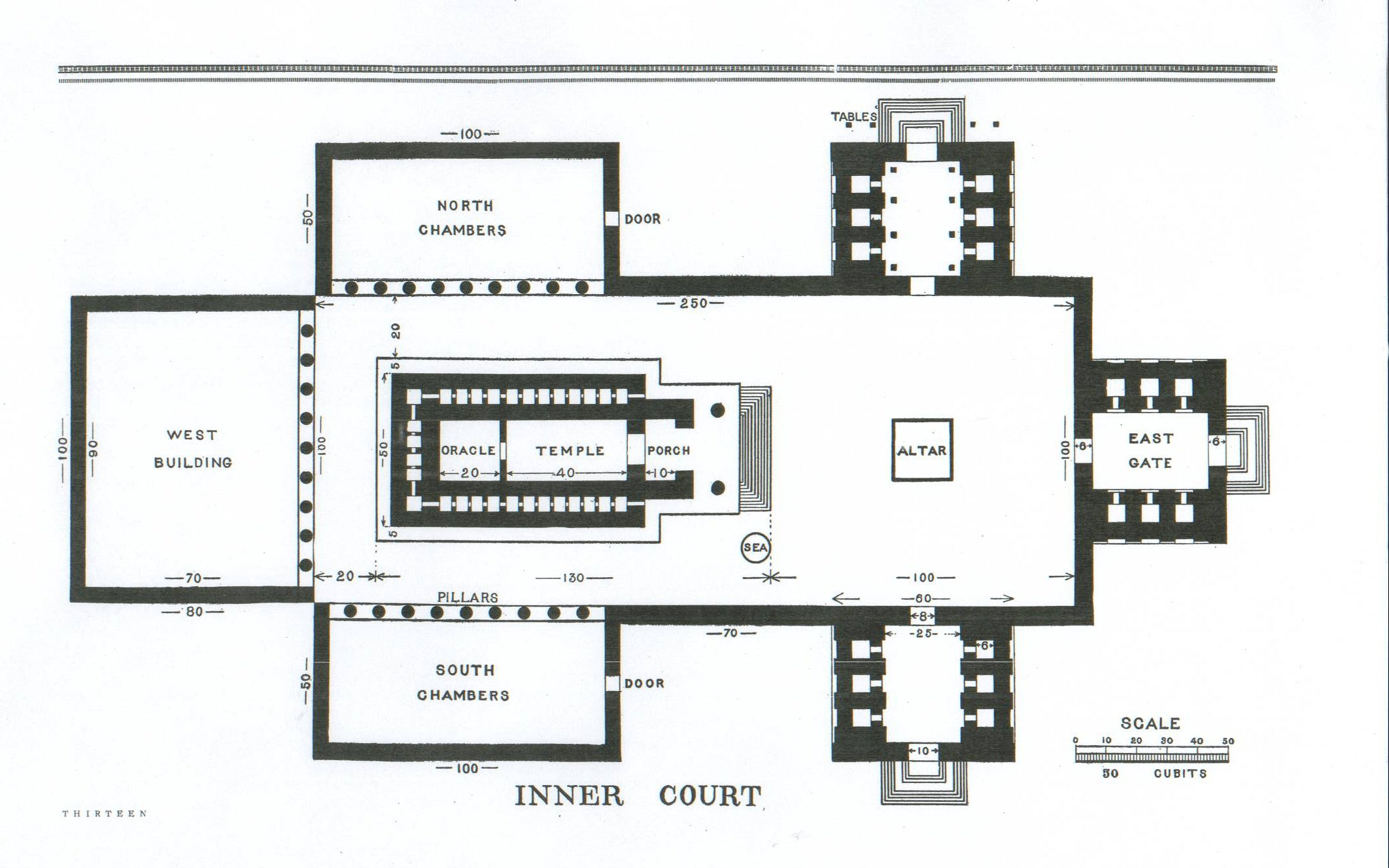 page 13 floor plan of the inner court king solomon u0027s temple by