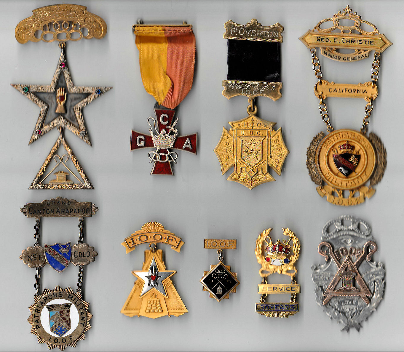 Ioof jewels the pieces in the above pictures are a mix of patriarchs militant ladies auxiliary to the pm encampment and ladies encampment auxiliary odd fellowship biocorpaavc Image collections