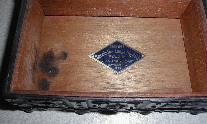 1935 Zeredatha Lodge No  483 Dresser Box