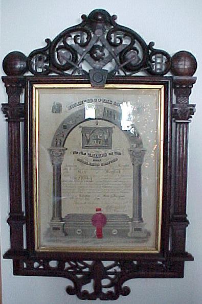 Bellamy 1871 Walnut Frame