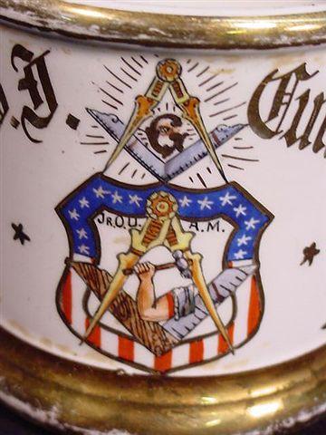 Antique Masonic Fraternal Occupational Shaving Mug
