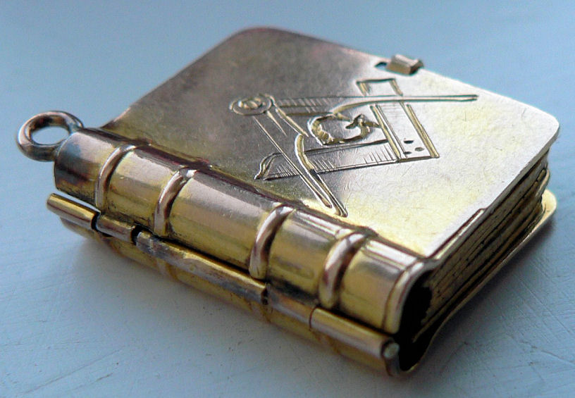 Masonic Book Fob From The Collection Of Bro Paul Mcevoy