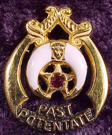 Shrine Past Potentate Lapel Pin