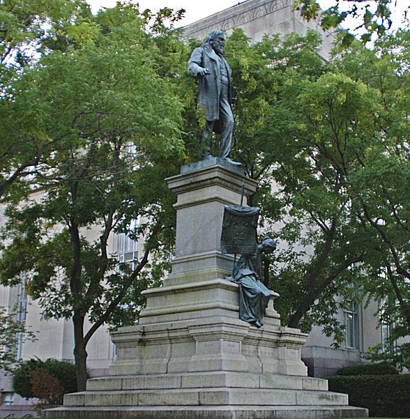 Statue of Confederate general Albert Pike stands in limbo