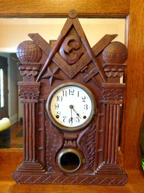Bellamy Carved Clock Frame C1875