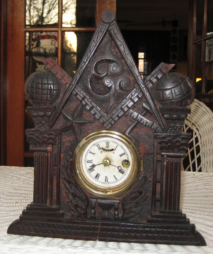 Bellamy Carved Clock And Picture Frame