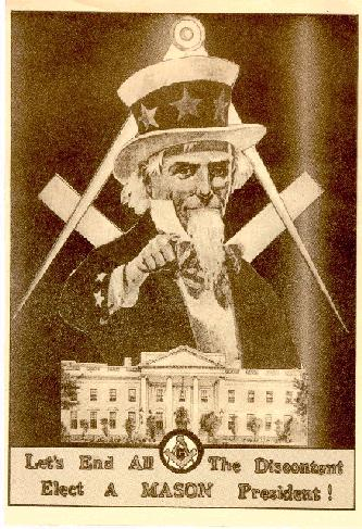 Political Masonic Postcards