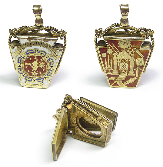 York rite and royal arch masonic fob this is a rare antique 14k gold masonic pendant this is a very unique fraternal piece of jewelry it is shaped like a keystone and bears royal arch and aloadofball Gallery
