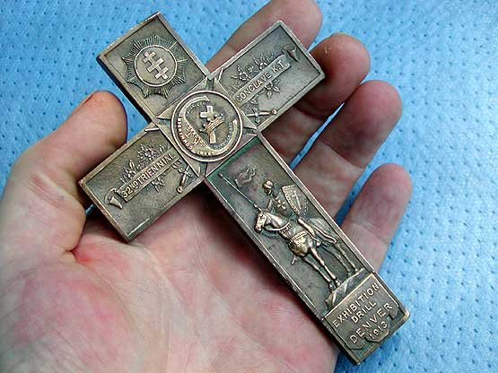 Knight templar 1913 grand commandery of colorado bronze cross mozeypictures Images